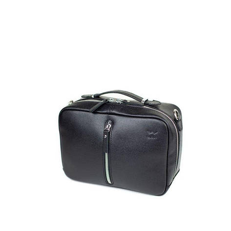 Жіноча шкіряна сумка Avenue чорна сап'ян, фото 2