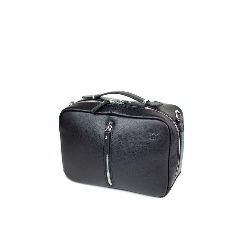 Жіноча шкіряна сумка Avenue чорна сап'ян