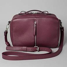 Жіноча шкіряна сумка Avenue бордова флотар, фото 2