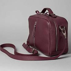 Жіноча шкіряна сумка Avenue бордова флотар, фото 3