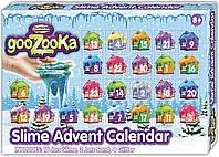 Рождественский календарь слаймов Creative Kids GooZooKa - 24 сюрприза!