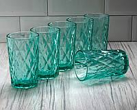 Набор стаканов «Круиз», 350 мл, 8х7х12,5 см, 6 шт, цвет бирюзовый