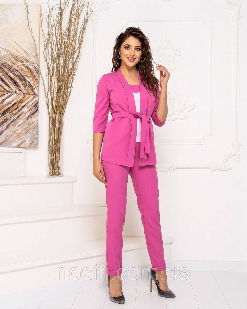 Жіночий костюм трійка штани+піджак