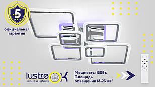 Видео обзор светодиодной люстры 1140/6 Хром-Серебро