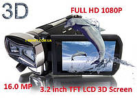 ЦИФРОВАЯ ВИДЕОКАМЕРА 3-D FULL HD 1080P 16MP MAX, 3.2 inch 3D TFT , SDHC Card up to 32 GB,10Xdigital Zoom