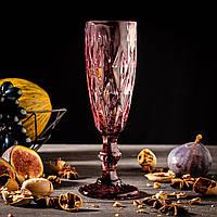 Набор бокалов для шампанского «Круиз», 160 мл, 7×20 см, 6 шт, цвет розовый