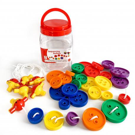 EDX Education Шнурівка з гудзичками для малюків для вивчення розміру