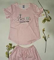 Жіночий домашній комплект шорти і футболка, фото 1