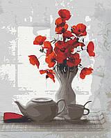 Картина за номерами ,Red&White    (40х50)   (RB-0096), фото 1