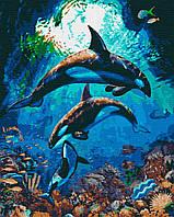 Картина за номерами ,Підводне царство    (40х50)   (RB-0420), фото 1