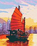 Картина за номерами ,Пурпурові вітрила    (40х50)   (RB-0428), фото 1
