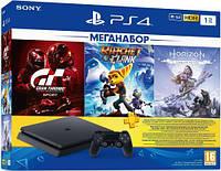 Игровая консоль SONY PlayStation 4 Slim 1Tb (Gran Turismo + Ratchet&Clank + Horizon Zero Dawn + PSPlus 3М)