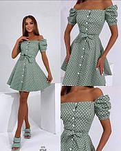 Платье женское летнее Цвета: Пудра, оливка Размер : 42-44, 46-48