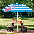 Пляжный зонт с регулируемой высотой и наклоном Springos 180 см BU0013 SKL41-252493, фото 4