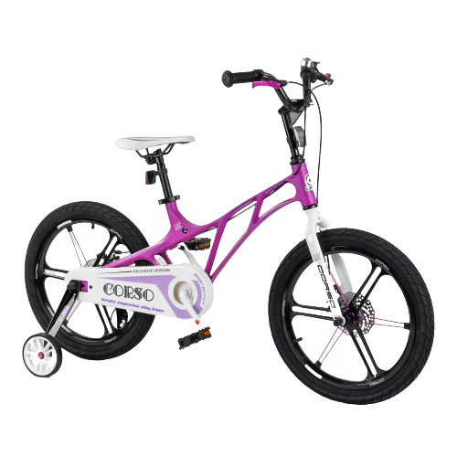Велосипед детский для мальчика девочки 5 6 7 лет колеса 18 дюймов Corso LT-10500 магниевая рама и диски