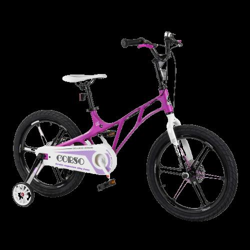 Велосипед дитячий для хлопчика дівчинки 5 6 7 років колеса 18 дюймів Corso LT-10500 магнієва рама і диски