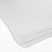 Фетр жесткий 1 мм, лист 20x30 см, белый с голубым оттенком (Китай)