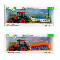 Трактор 6188E-7188E інерц., сільгосптех., 2 види/мікс кольорів, муз., світло, бат.,кор.,51-22-15,5см