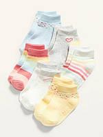 Набір демісезонних занижених шкарпеток - 6 пар Олд Неві для дівчинки