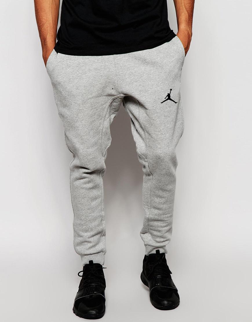 Чоловічі спортивні штани сірі в стилі Jordan   Джордан Спортивні