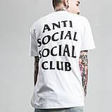Футболка мужская Anti Social social club Белая A.S.S.C.  Бирки   Футболка АССК, фото 2