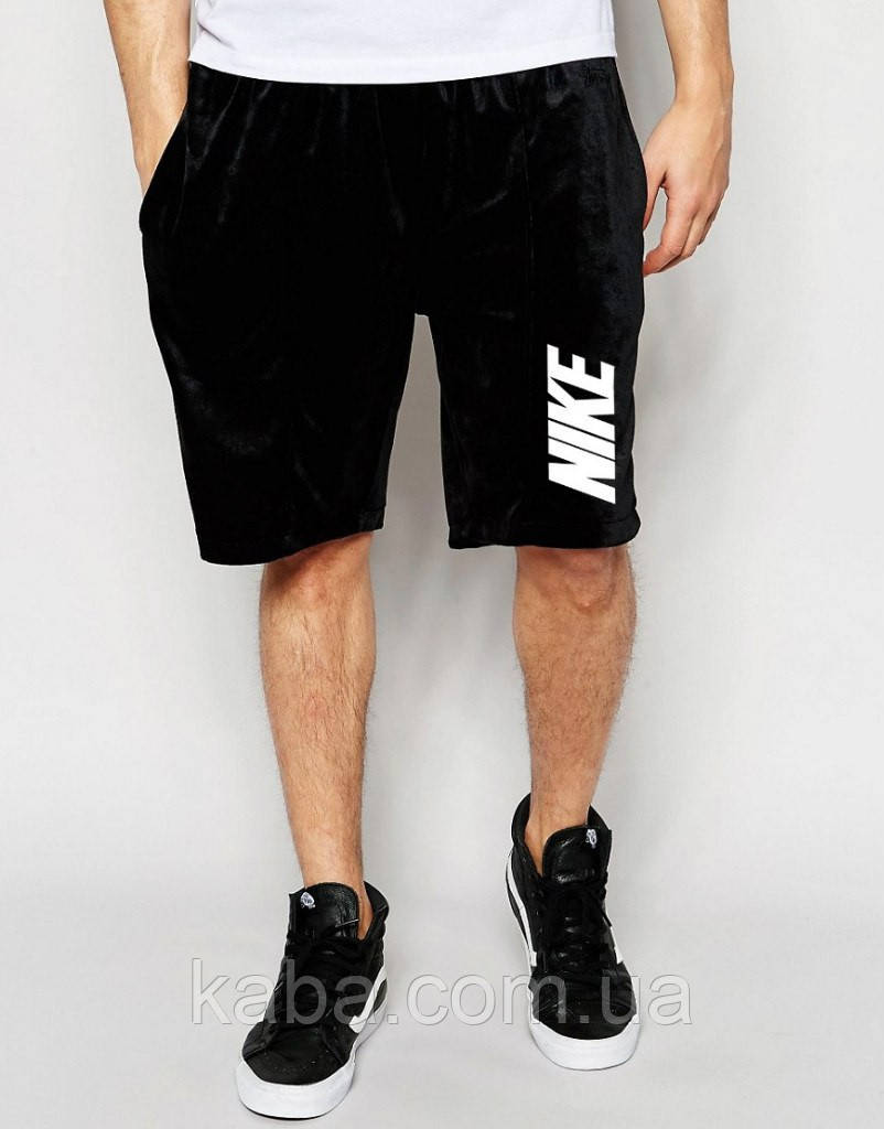 Шорты Nike ( Найк ) чёрные вертикальный принт