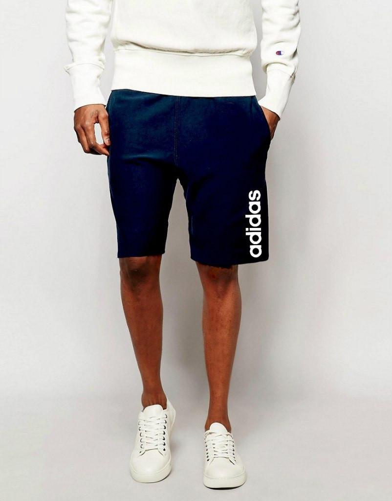 Шорти Adidas ( Адідас ) сині білий лого