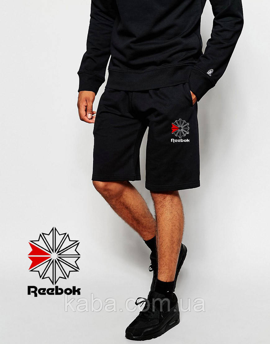 Шорты REEBOK ( Рибок ) черные цветок