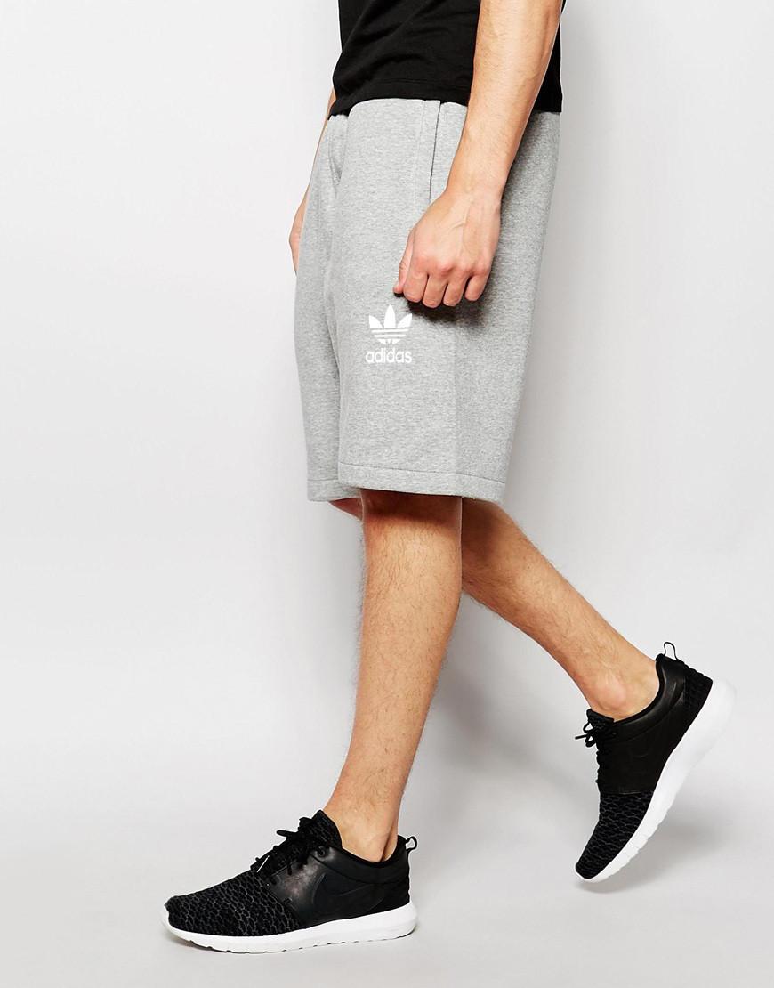 Шорти чоловічі Adidas ( Адідас ) сірі старий значок білий
