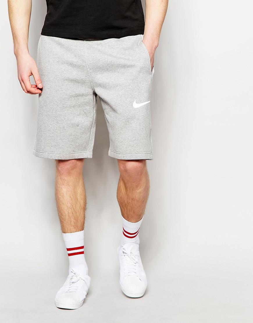 Шорти чоловічі Nike ( Найк ) сірі галочка біла