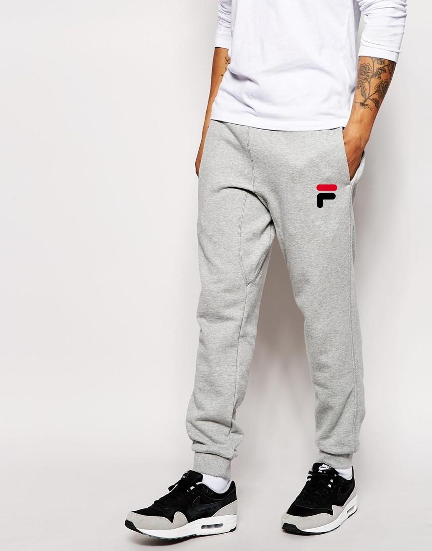 Мужские спортивные штаны FILA | Фила серые