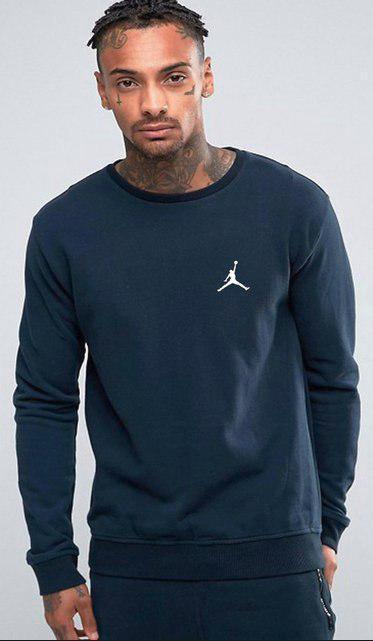 Світшот синій Jordan ( Джордан ) (дрібне лого )