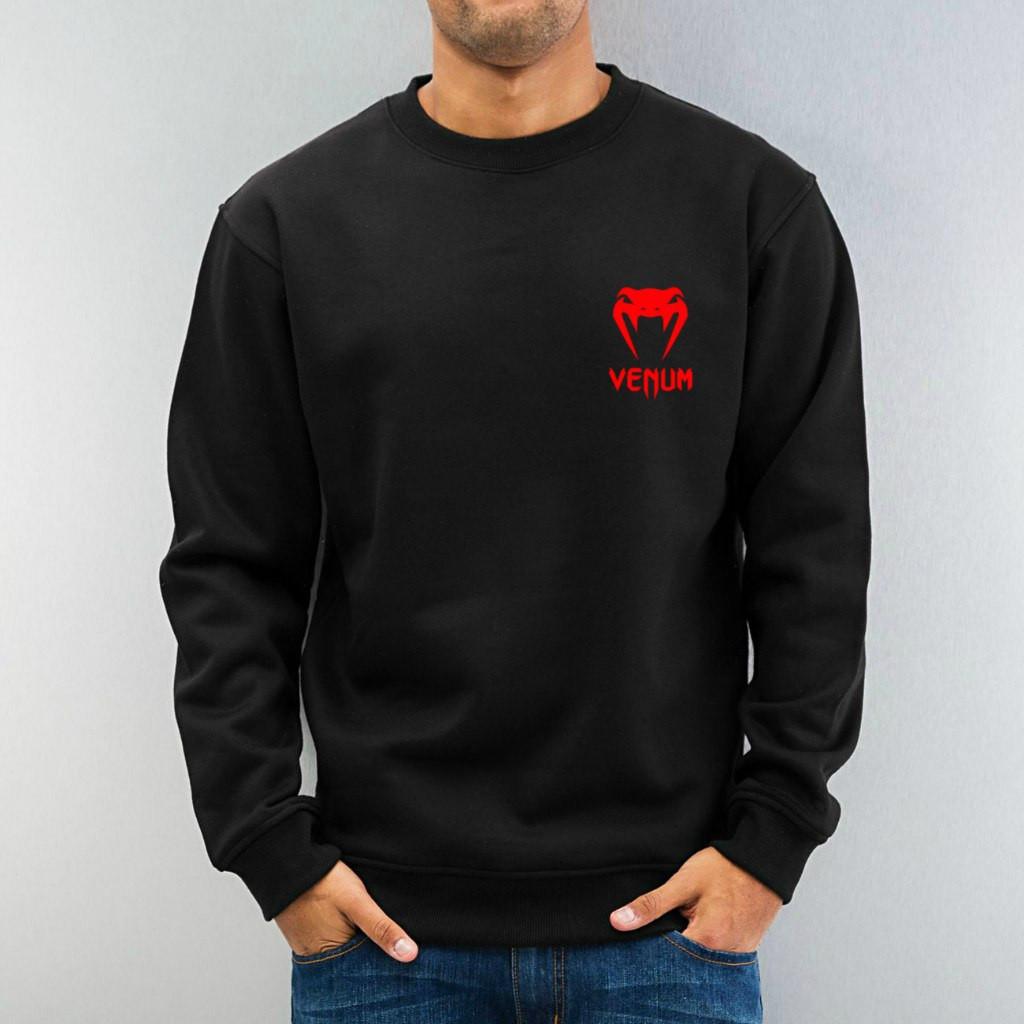 Свитшот чёрный VENUM ( Веном ) ( мелкий лого )