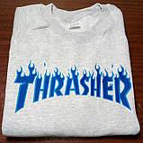 Світшот Thrasher чоловічий | TRASHER BLUE | Трешер кофта, фото 2