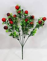 Темно красная клюква 33см искусственный ягодный куст