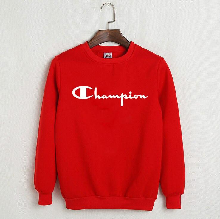 Світшот красныйв стилі Champion ( Чемпіон )( біле лого )