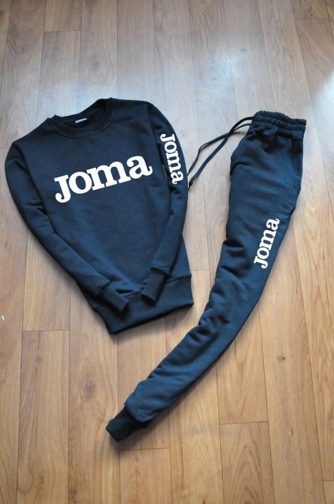 Мужской чёрный костюм Joma крупное лого