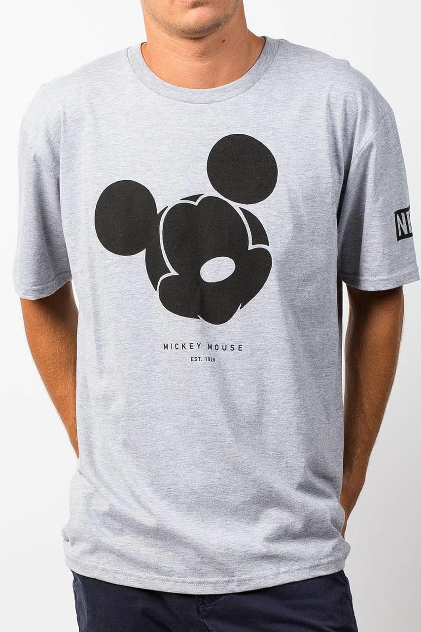 Футболка серая Neff Mickey Mouse мужская