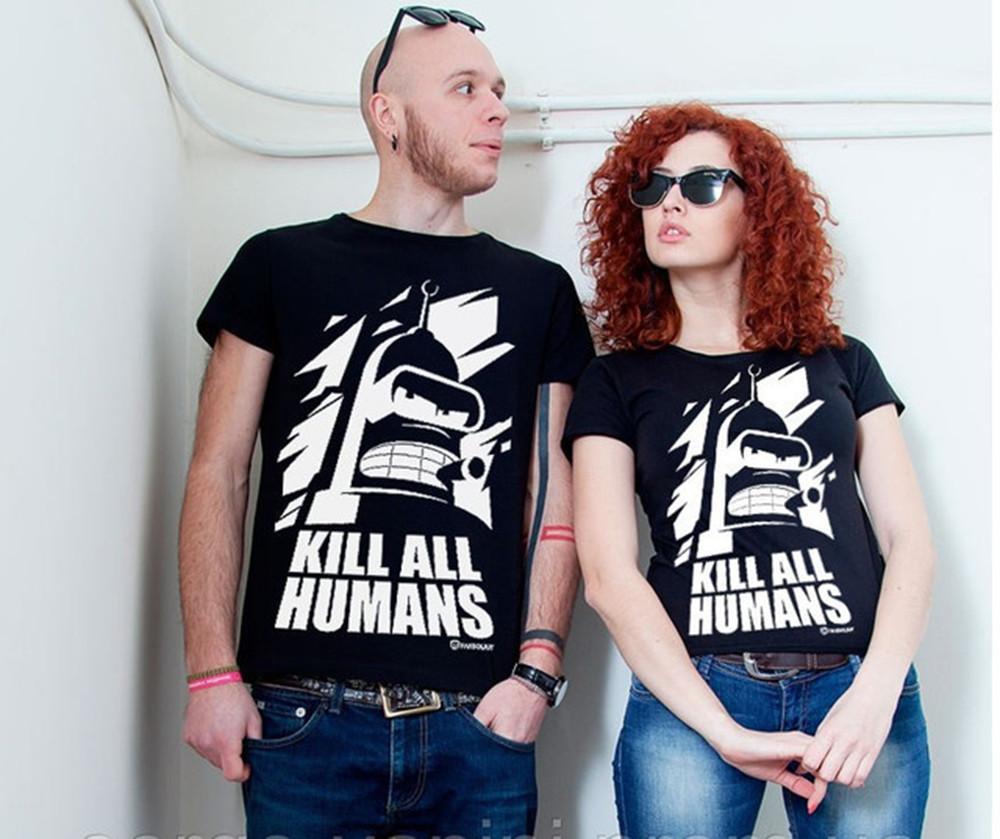 Парные футболки для двоих Бендер