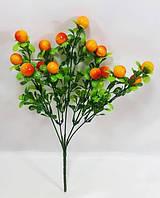 Оранжевая клюква 33см искусственный ягодный куст