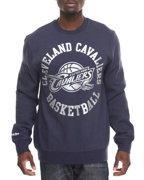 Світшот синій чоловічий Cleveland Cavaliers Silver Metallic Crew Mitchell Кофта