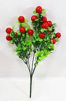 Красная клюква 33см искусственный ягодный куст