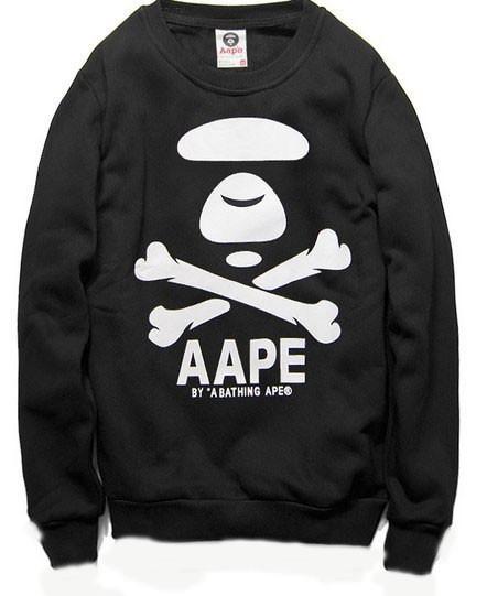 Свитшот черный мужской AAPE By A Bathing Ape | Кофта