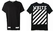 Футболка OFF WHITE чорна з логотипом чоловіча,жіноча,дитяча