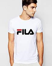 Футболкав стилі FILA біла, унісекс (чоловіча,жіноча,дитяча)