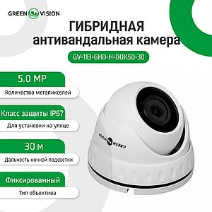 Гибридная антивандальная камера GV-113-GHD-H-DOK50-30