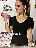 Спортивная функциональная женская футболка от crivit размер S 36-38 размер наш 42-44