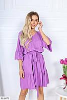 Легке стильне плаття а-силуету з розкльошеною спідницею великі розміри р-ри 50-56 арт. р15353.2