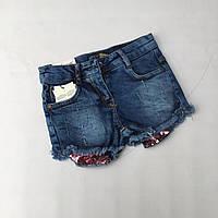 """Шорти дитячі джинсові з паєтками на дівчинку 8-12 років """"JUNIOR"""" недорого від прямого постачальника"""