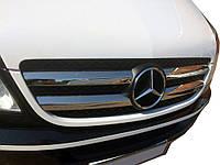 Решітка радіатора (сталева накладка) Carmos Mercedes Sprinter 906